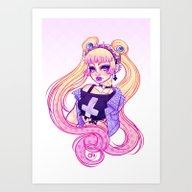Pastel Goth Usagi (Glass… Art Print