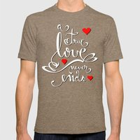 Valentine Love Calligrap… Mens Fitted Tee Tri-Coffee SMALL