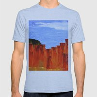 High Desert Canyons Mens Fitted Tee Athletic Blue SMALL