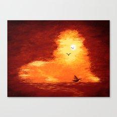 The Horizon Lion Canvas Print