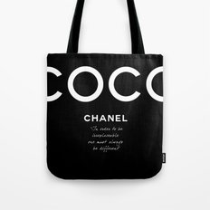 CoCo Chanel's Irreplaceable Quote Tote Bag