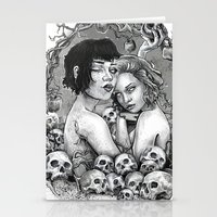 Skull Nouveau Babes Stationery Cards