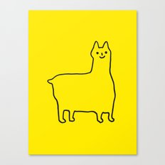 Happy Alpaca Canvas Print