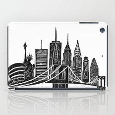 Linocut New York iPad Case