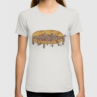 Human Sandwich Womens Fitted Tee Silver SMALL