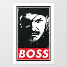 Big Boss - Metal Gear So… Art Print
