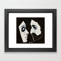 Two People Framed Art Print
