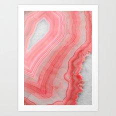 Coral Pink Agate  Art Print