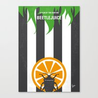 No531 My Beetle juice minimal movie poster Canvas Print