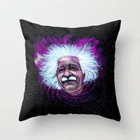 Albert Einstein Nebula Throw Pillow