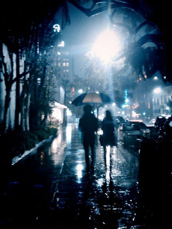 Rainy Night Art Print