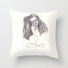 No.4 Fashion Illustration Series Throw Pillow
