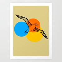 Sunset Aviary Art Print