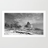 Chapel In The Snow Art Print