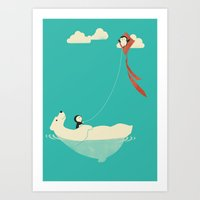 Art Print featuring Parasailing by Jay Fleck