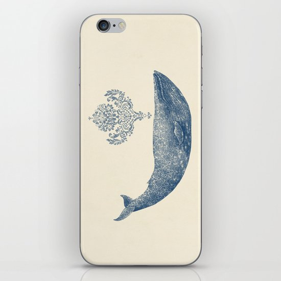 The Damask Whale  iPhone & iPod Skin
