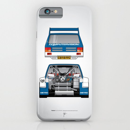 Outline Series N.º7, MG Metro 6R4, 1986 iPhone & iPod Case