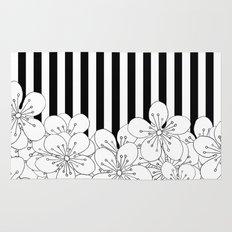 Cherry Blossom Stripes - In Memory of Mackenzie Rug