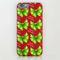 iPhone & iPod Case featuring Merry Christmas Bows by LesrubaDesigns
