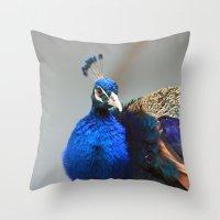 Peacock World Throw Pillow