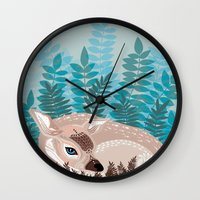 Dozy Deer Wall Clock