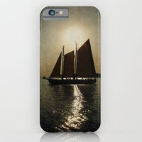 iPhone & iPod Case featuring Sailing at twilight by Michelle Anderson