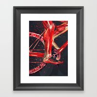 Bike Anatomy Framed Art Print
