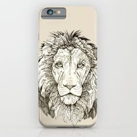 iPhone & iPod Case featuring Lion  by Leanna Rosengren