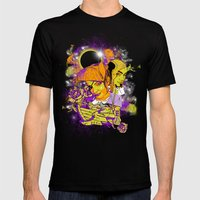 Space Pirates Mens Fitted Tee Black SMALL