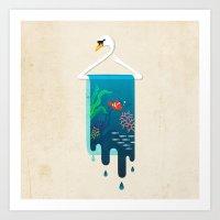Swan Hanger Art Print
