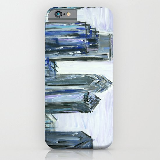 Gray Philadelphia Skyline iPhone & iPod Case