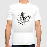 Octopus 001 Mens Fitted Tee White SMALL