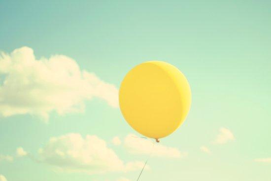 yellow balloon Canvas Print