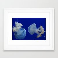 Framed Art Print featuring Jelly Fish by Eternal