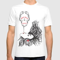 drop dead gorgeous White SMALL Mens Fitted Tee