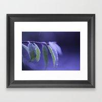 Blue Frost Framed Art Print