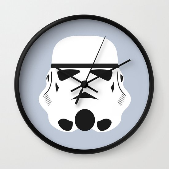 Star Wars Minimalism - Stormtrooper Wall Clock