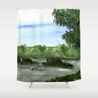 New Hope Lambertville Br… Shower Curtain