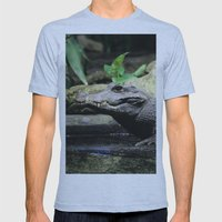 Crocodile Mens Fitted Tee Athletic Blue SMALL