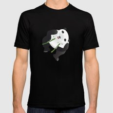 pppanda! Black Mens Fitted Tee SMALL