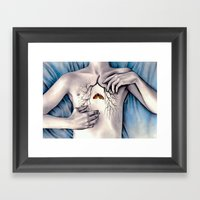 Between Two Lungs Framed Art Print