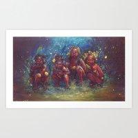 Children Of The Gaia Tri… Art Print