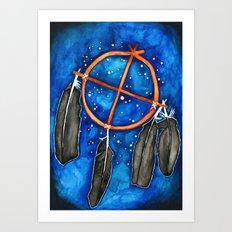 Compass Dreamcatcher Art Print