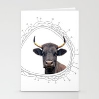 Yellow Horns Stationery Cards