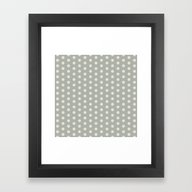 Framed Art Print featuring Oyster Bay Dots by Beautiful Homes