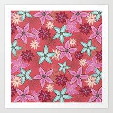 Garden of flowers Art Print