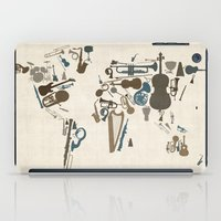 Musical Instruments Map of the World iPad Case