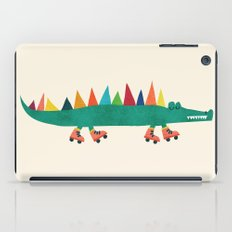 Crocodile on Roller Skates iPad Case
