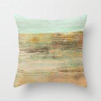 Abstract Horizon Throw Pillow