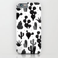 Cactus garden black and white iPhone 6 Slim Case